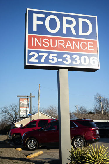 Auto Insurance in Shawnee, OK, exterior company sign